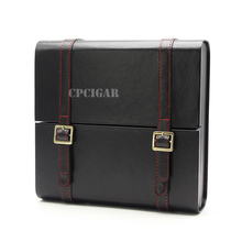 New Briefcase Style Cedar Wood Lined Professional Cigar Humidor Travel Portable Cigars Humidor Case Humidifier Fit Cohiba Cigars(China)