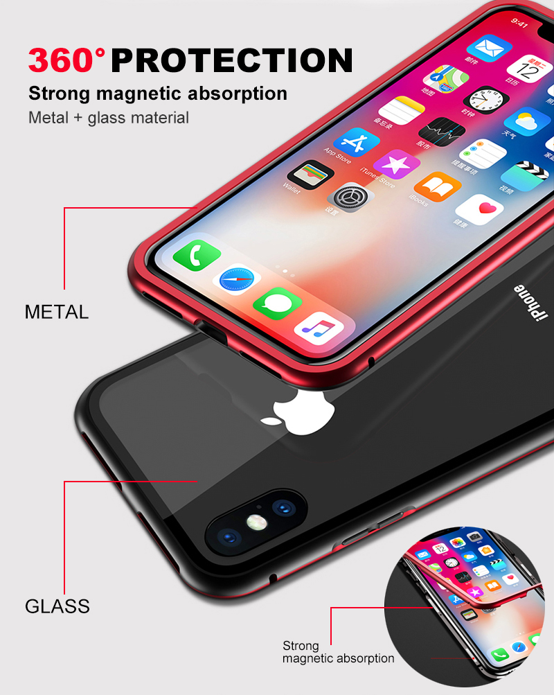 Magnetic case for iphone 8 (9)