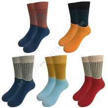 5Pairs High Quality Brand Men Socks Male Fashion Colorful Cotton Crew Socks Men Casual Business Dress Socks Man Sox DR822