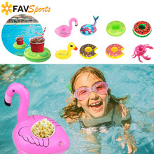 2018 New Flamingo Cup Holder Einhorn Aufblasbar Coasters Float Drink  Holders Swimming Pool Summer Party Toy