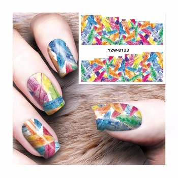 ZKO Watermark Nail Stickers Lea Designs Nail Art Water Transfer Sticker Decals Nails Wraps Decor