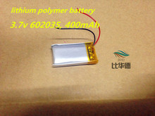 3.7V lithium polymer battery ,3.7v 602035, 400mAh Handheld GPS Navigator Lithium Battery(China)