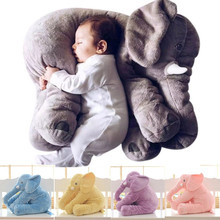 60cm Plush Toy Soft Colorful Giant Elephant Stuffed Animal Toy Animal Shape Pillow Baby Toys Doll Gift Home Decor Dropshipping(China)