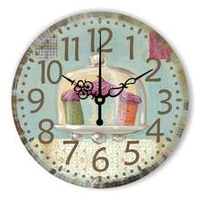 Kitchen Wall Clock With Waterproof Clock Face Vintage Home Decoration Wall Clock Dining Hall Wall Decoration Watch Gift