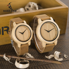 BOBO BIRD WA09 Ladies Casual Quartz Watches for Men Natural Bamboo Watch face Women's Brand Lovers Watches in Box Dropshipping