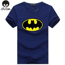 Hot 2016 New Fashion Cartoon Batman T Shirts Men O Neck Short Sleeve Cotton Mens T-Shirt Euro Size Man tshirt Tops Free Shipping