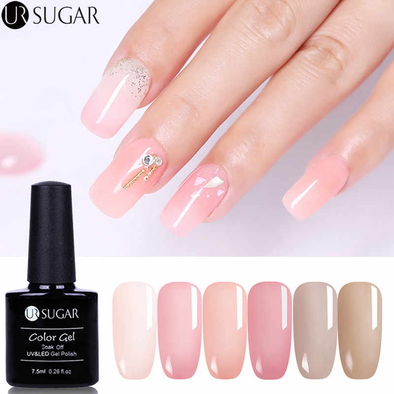 Detail Feedback Questions about UR SUGAR Jelly Pink Gel Nail Polish ...