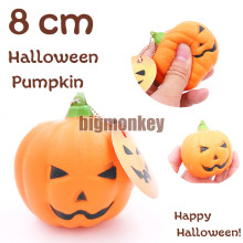 Big monkey NEW 20pcs/lots slow rising PU Smiling face Halloween pumpkins Squishy Charm mobile phone strap(China)