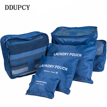 DDUP Nylon Packing Travel Bag System Durable 6 Pieces One Set Large Capacity Of Bags Unisex Clothing Sorting Organize Bag(China)