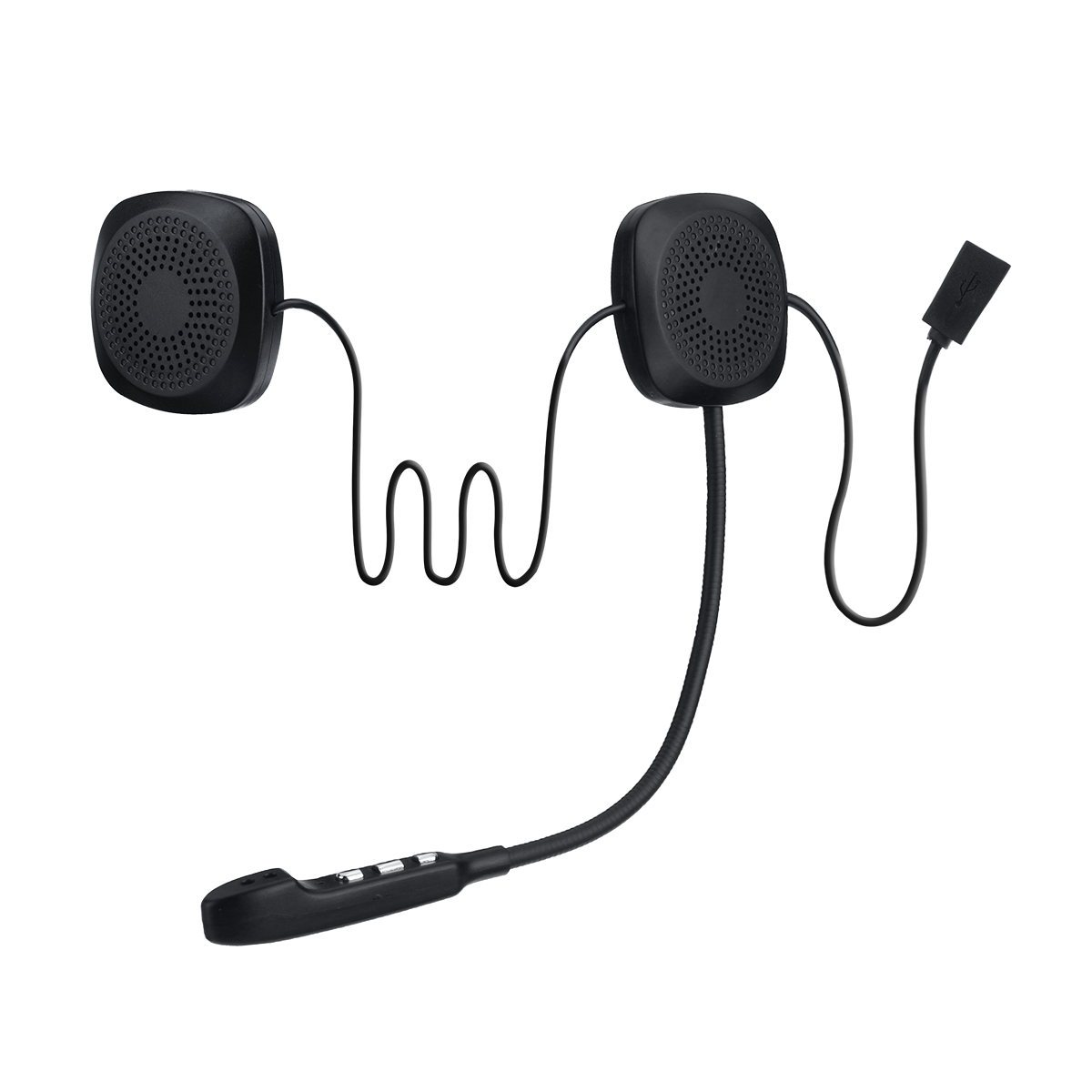 Audew Helmet Headset V4.2-Intercom Moto Bluetooth Hands-Free Waterproof Wireless Anti-Interference title=