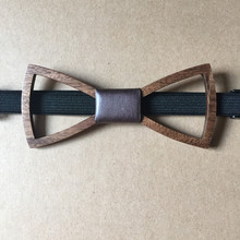 New Fashion Personality Brown Bow Tie Wooden Butterfly Neck Tie For Men Jewelry Wood Bow tie