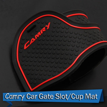 11 Pcs/Set Car Styling For Toyota Camry 7th 2012 2013 2014 Waterproof Latex Non Anti Slip Gate Slot Pad Mat Pads Mats Car-cover