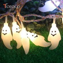 TOFOCO 20pcs LED Spirit Design Strip Lightning Toys Funny Cute Halloween PVC Toy Ghost Light Popular Light Up Toys for Kids