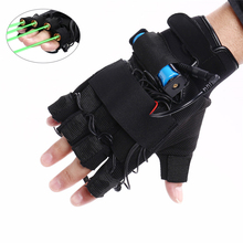 New Arrival 1Pcs Red Green Laser Gloves Dancing Stage Show Light With 4 pcs Lasers and LED Palm Light for DJ Club/Party/Bars(China)