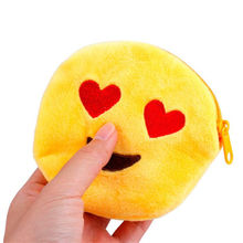 2016 Cute Style Novelty Emoji Smile Zipper Plush Coin Purse Kawaii Children Bag Women Wallets Mini Change Pouch Bolsa 10 Styles