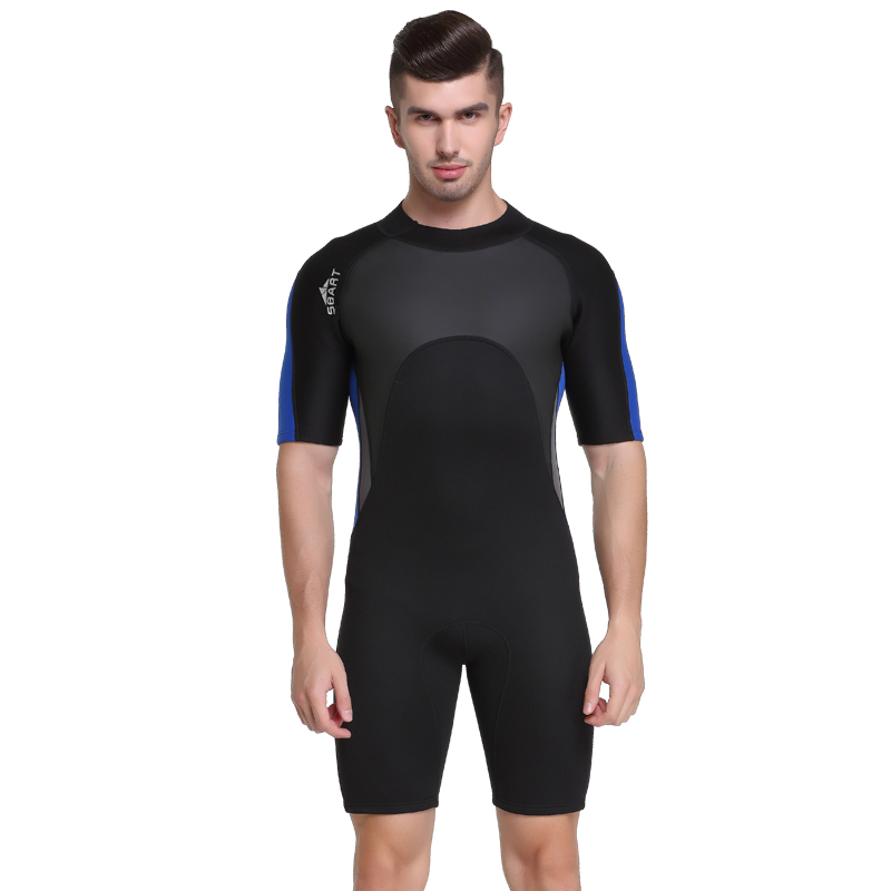 SBART 2mm Neoprene Surf Wetsuit Men For Swimming Scuba Diving Equipment One-Piece Spearfishing Sailing Wet Suits Men Mergulho N<br>