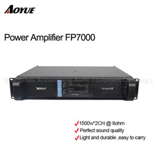 2 channels 1500W outdoor power amplifier FP7000 Pro Switching Amplifier Power Supply for line array