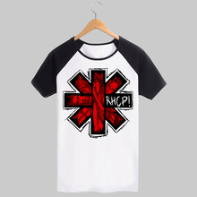 Red Hot Chili Peppers logo pattern cotton t shirt export orders high quality rock fashion(China)