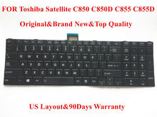 100% Brand New&Original laptop Keyboard for Toshiba Satellite C850 C850D C855 C855D keyboard Black US Layout Fully tested