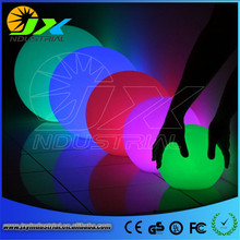 led rechargeable balls/ Glowing plastic waterproof led ball supplier from china/Full color RGB long life span decorative balls(China)