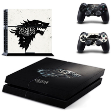 Game Thrones Winter is Coming Stark Decal PS4 Sticker Wrap for Sony PlayStation 4 Console and 2 Controllers Decorative Skin