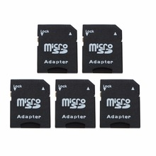 5Pcs/Pack Micro SD TransFlash TF To SD SDHC Memory Card Adapter Converter Black C26