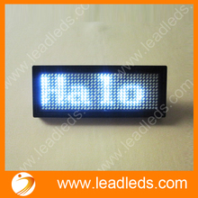 White Special Offer 44x11 Dots Rechargeable Led Scrolling Name Badge, Hot Moving Text Display Business Card Tag