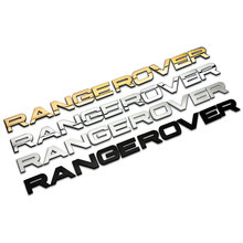 1 Set 3D Head Cover Letters Sticker Decal Logo Emblem Sports Line High Quality for RANGE ROVER car-styling