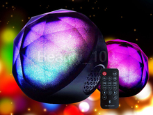 2015 Hot Sell Remote Control Speaker Color Changing Speaker Wireless Audio Player LED Light Magic Crystal Color Ball Speaker