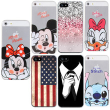 American flag Case For Apple iPhone 4 4S 5C 5S 5 SE 6 6S Phone Shell Funny Stitch Coque Clear Silicone TPU Soft Cover Fundas(China)