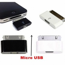 Ascromy Micro USB Female to 30 Pin Charging Adapter Converter Cable Charger Adapter For iPhone 4 4S iPad 1 2 3 Accessories