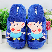 Buy 2018 baby girls boys slippers children pvc rubber cartoon captain america kids home sandal shower shoes for $3.56 in AliExpress store