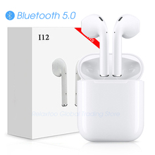 i12 tws Bluetooth Earphone Wireless earphones Touch control Earbuds 3D Surround Sound & Charging case for iPhone Android phone(China)