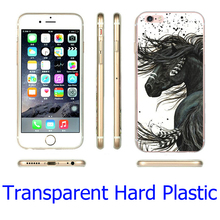 Majestic Mustang Horse Transparent Phone Case for iPhone 7 6 6S Plus 4 4S 5C 5 SE 5S Cover ( TPU / Plastic for Choice )