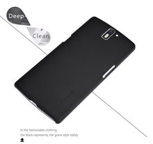 Nillkin super frosted shield case for OnePlus One A0001 1+ hard matte slim back cover shell + free film With Tracking HD2(China)