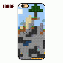 2016 Unique Snap-on Hard Plastic Minecraft Pixel Cell Phone Case cover for iphone 4 4s 5 5s 5c 6 plus 7 7plus 8 8plus x(China)