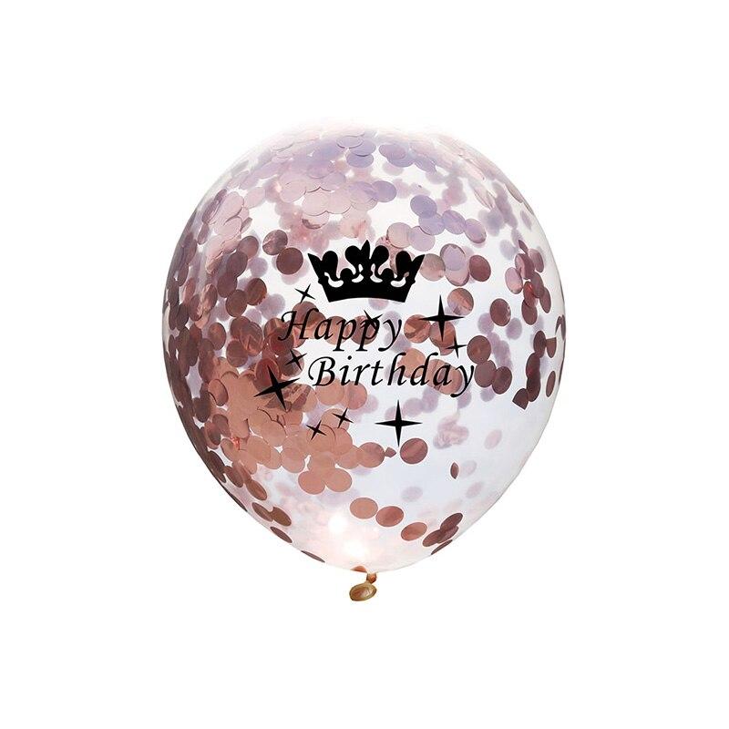 5pcs 12inch Balloon Party Wedding Decoration Multicolor Confetti Balloon Thickening Pear Ballons Decoration Birthday 12