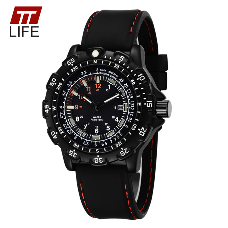 TTLIFE TOP Luxury Watches Fashion Casual Mens Noctilucent Quartz Wristwatch Waterproof Outdoor Sports Military Form Watches<br><br>Aliexpress