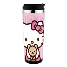 free shiping  hello kitty mug adversing mug ,  wholesale 12pcs /lot coffee mug  carton mug can change the insert paper
