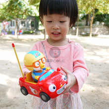 New Baby Boy Girl BDCOLE Remote Control Electric Toys Car kids RC Car Cute Penguin Cartoon Musical Light Child Car Toy(China)