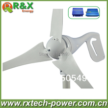 Brand new wind turbine generator 400W 3 PCS blades wind generator+wind/solar hybrid controller+600 W off grid inverter.(China)