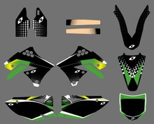 GRAPHICS & BACKGROUNDS DECALS STICKERS Kits Kawasaki KX250F KXF250 2009 2010 2011 2012 KXF 250 KX 250F - DIRT BIKE store