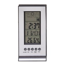 LCD Digital Thermometer Hygrometer Weather Station Indoor Electronic Humidity and Temperature Monitor Clock