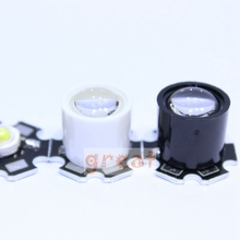 20pcs Black White 10 Degree LED LENS Reflector Collimator 14.5mm For 1W 3W 5W High Power Star LED Light(China)