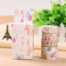 4 PCS/Set Colorful Life Decorative Washi Tape DIY Scrapbooking Masking Tape School Office Supply