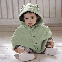Fashion Combi Baby Coats boys Girl's Smocks Outwear Fleece cloak Jumpers Children's clothing Poncho(China)