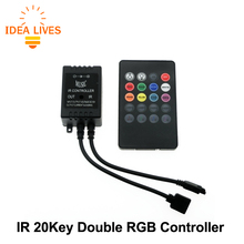 LED RGB Music Controller DC12-24V 20 Key Sound Sensor IR Remote Controller For RGB LED Strip