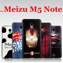 3D Soft Leather Cell Phone Cover for Meizu M5s Coque Relief Cool Pattern Mobile Phone Cases Cellular Tower Captain America