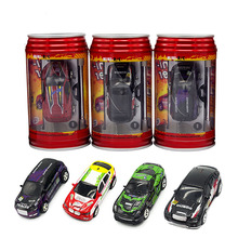 Coke Can Mini RC Car Hot Sale 20KM/H Radio Remote Control Micro Racing Car 4 Frequencies Toys for Kid Best Gift(China)