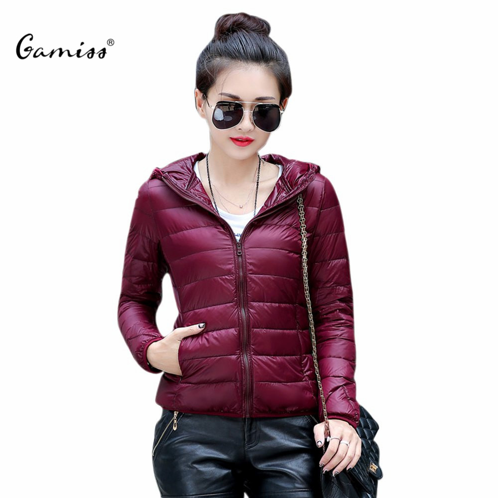 Down Jacket Coat for Women Simple Fashion Hooded Long Sleeves Solid Zippered Short Cotton Winter 1487056Одежда и ак�е��уары<br><br><br>Aliexpress